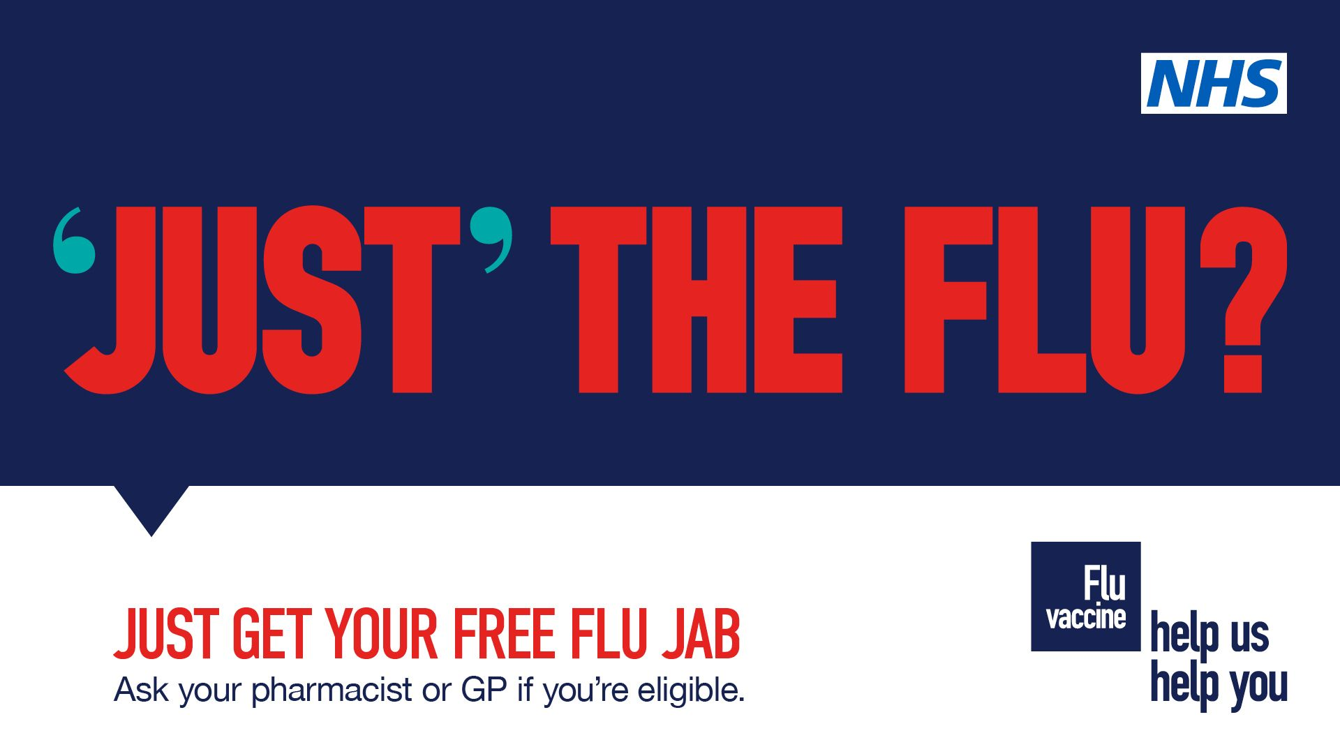 Flu Campaign poster encouraging people to get flu jabs